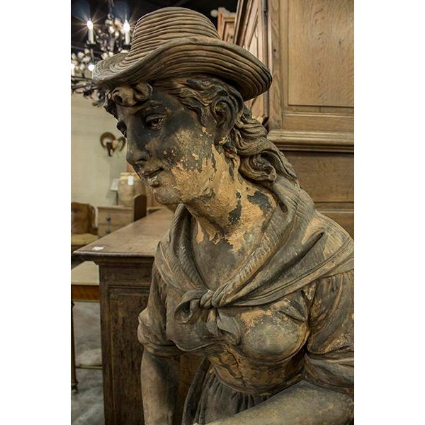 English Terra Cotta Statue For Sale - Image 4 of 5