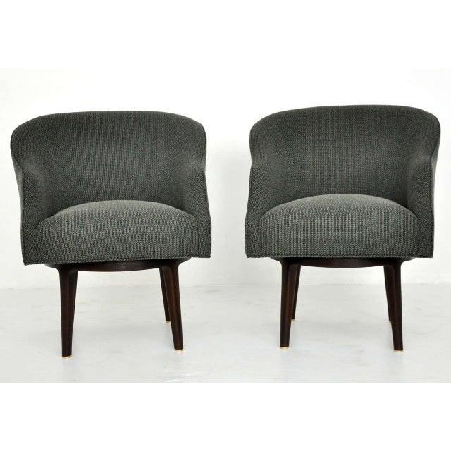 Dunbar Swivel Lounge Chairs by Edward Wormley - Image 2 of 9