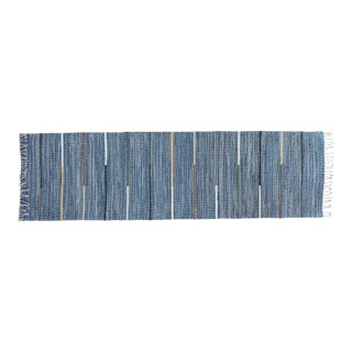 """New Handwoven Reversible Vintage Swedish Rug by Scandinavian Made 110"""" x 30"""" For Sale"""