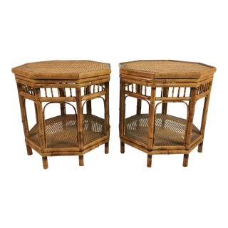1960s Chinoiserie Brighton Side Tables - a Pair For Sale