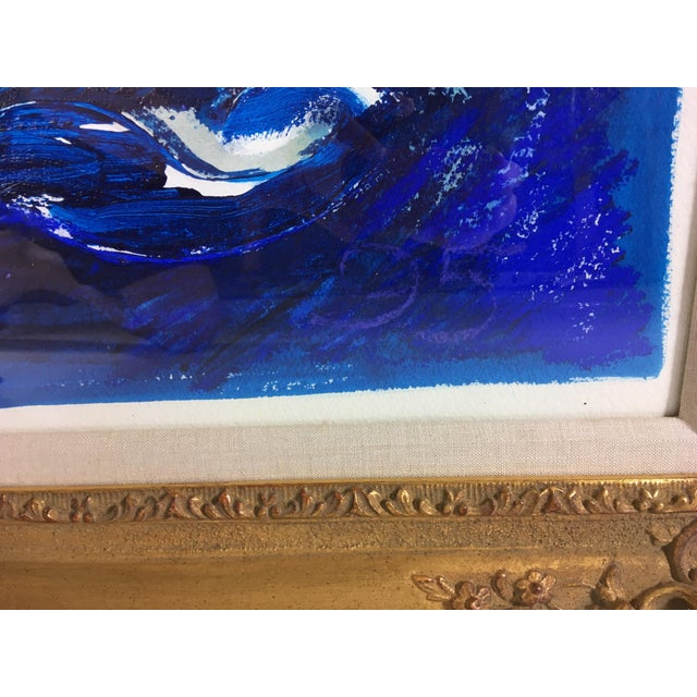 1990s Framed Abstract Acrylic on Paper For Sale - Image 5 of 7
