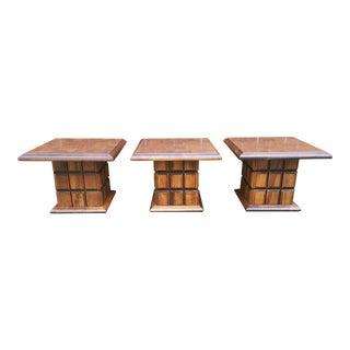 Vintage 1960s Traditional Mersman Side Tables - Set of 3 For Sale