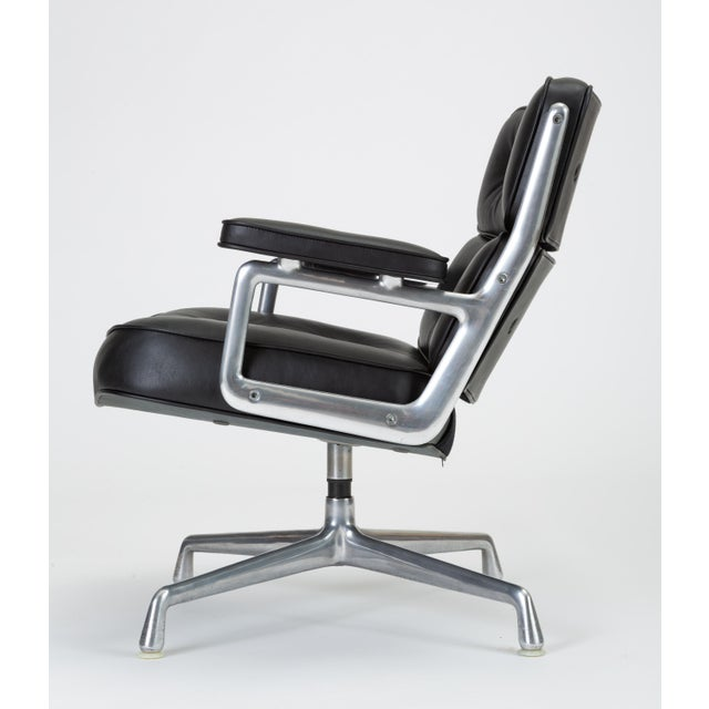 Black Leather Time Life Lobby Chair by Ray and Charles Eames for Herman Miller For Sale In Los Angeles - Image 6 of 13