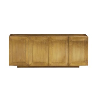 Contemporary Aged Brass Console