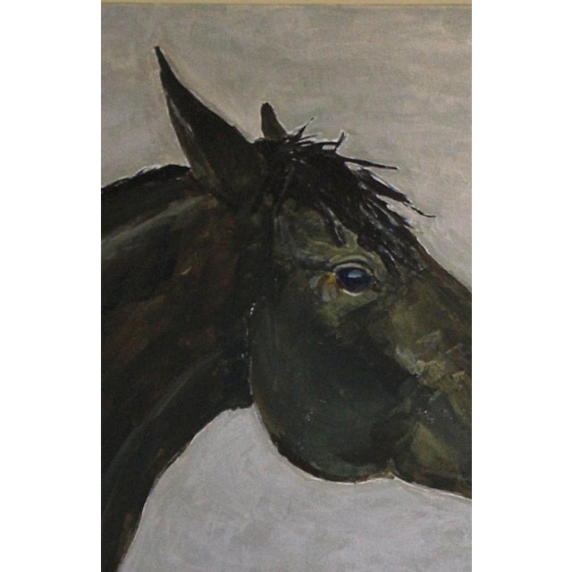 "Contemporary ""Big Horse on Silver"" Contemporary Painting by Sarah Myers For Sale - Image 3 of 6"