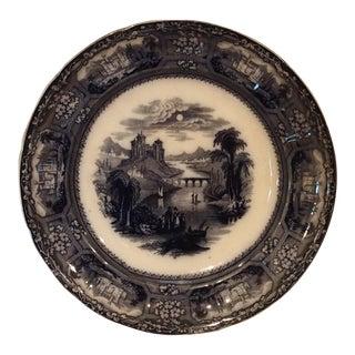 T. J. & J. Mayer 1850 Transferware Plate, Florentine Pattern For Sale