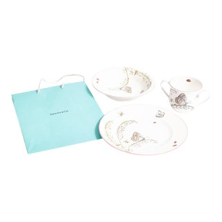 Tiffany China Set for Baby Girl With Iconic Tiffany Blue Bag - Set of 3