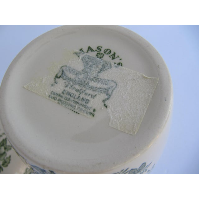 English Mason's Green Flower Ironstone Ginger Jar For Sale - Image 6 of 6