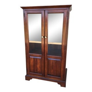 Statton Centennial Finish Solid Cherry Media Cabinet For Sale