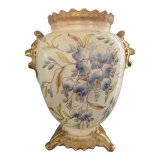 Ornate Lion Head Flower Vase or Urn with English Hallmarks