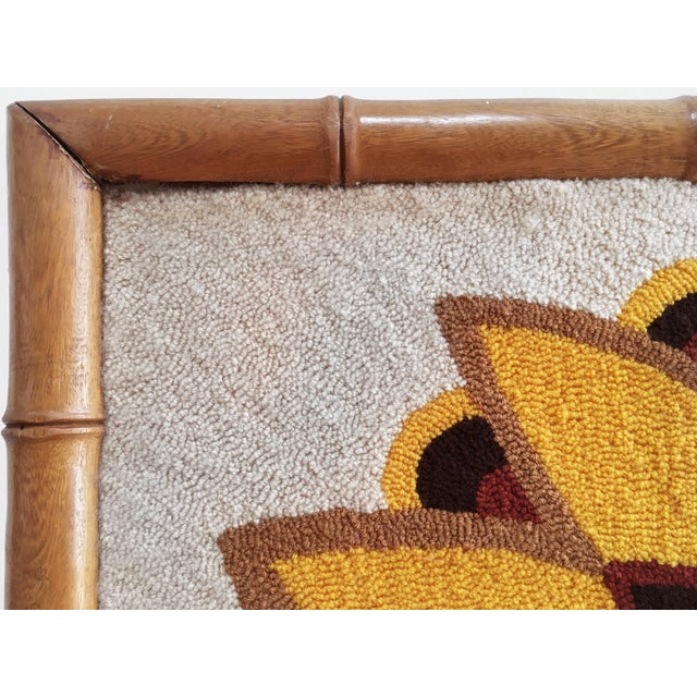 1970s Luis Montiel Woven Rug Tapestry- 70s Botanical Textile Art For Sale - Image 5 of 9