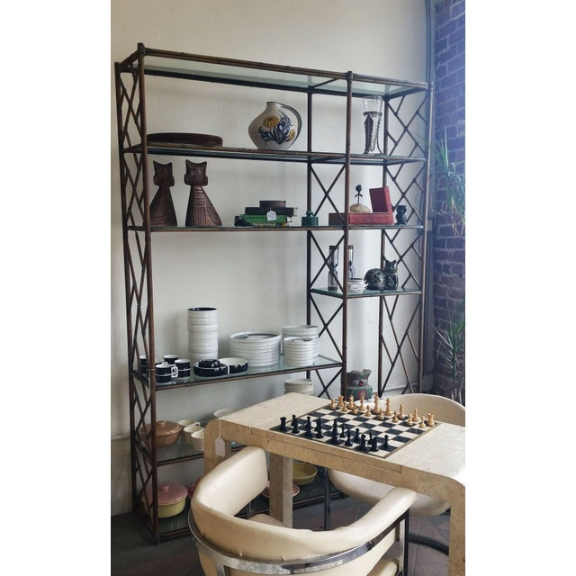 Mid-Century Regency Chippendale Wall Unit Etagere - Image 4 of 4