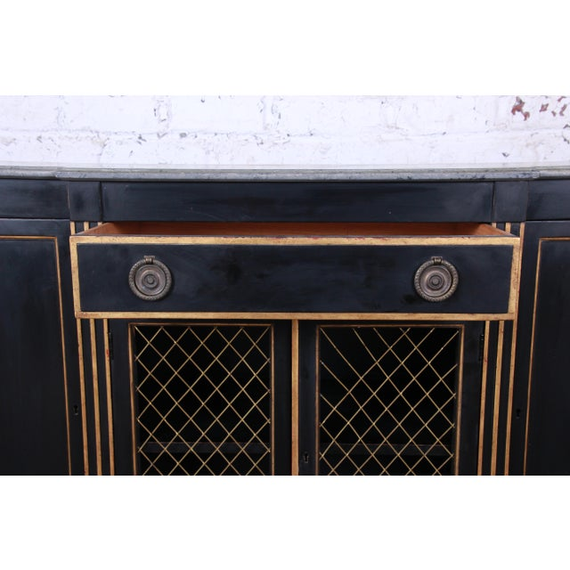 Baker Furniture Neoclassical Sideboard Credenza or Bar Cabinet For Sale In South Bend - Image 6 of 12