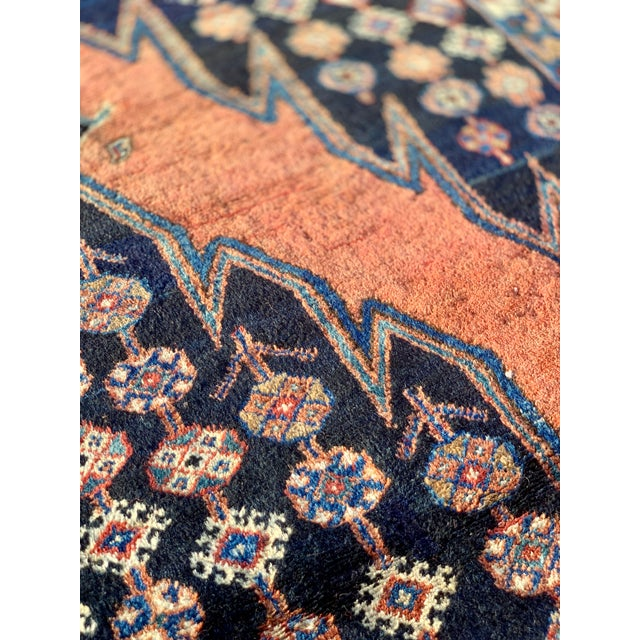 1930s Vintage Persian Mazlaghan Rug - 4′5″ × 5′10″ For Sale In Atlanta - Image 6 of 12