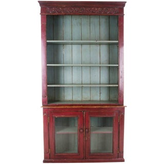 English 19th Century Painted Pine Bookcase / Buffet