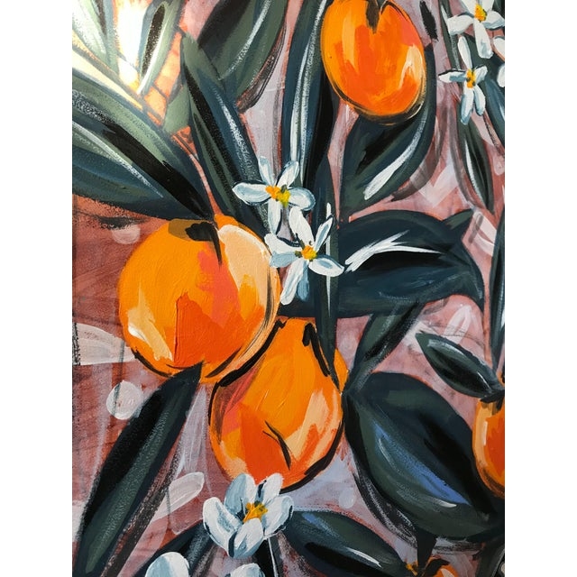 Signed, giclee print of an original work from Morgan Rollinson's Citrus and Greenery collection printed on 100% cotton,...
