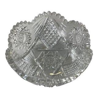 Brilliant Period Cut Glass Bowl For Sale