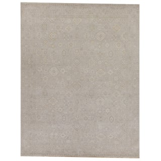 Vith Beige Hand knotted Wool Area Rug - 10'x14' For Sale