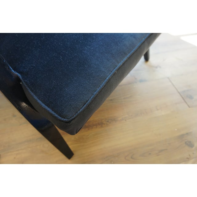 Black Ponti Era Fireside Low Slipper Chairs - A Pair For Sale - Image 8 of 11