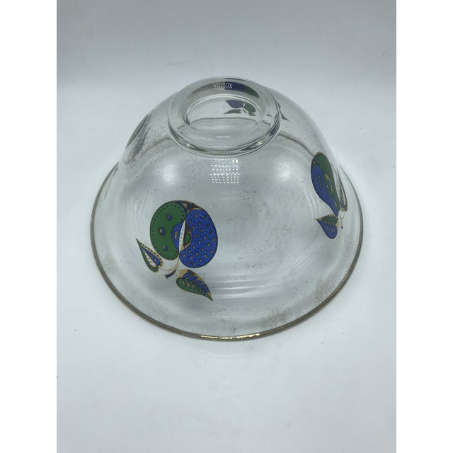 1960s Vintage Mid Century Georges Briard Gold Rimmed Glass Bowl With Fruit For Sale In San Diego - Image 6 of 11