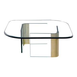 Mid-Century Pace Brass and Glass Cocktail or Coffee Table For Sale