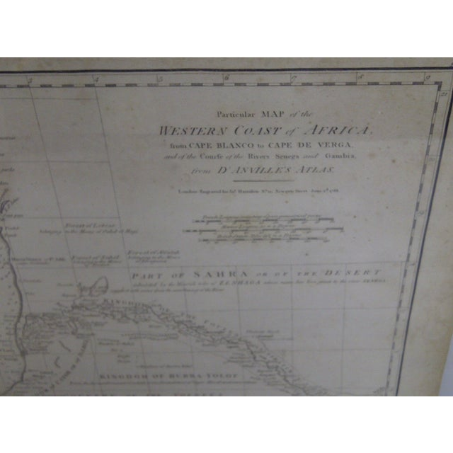Vintage 1788 Map of the Western African Coast For Sale - Image 5 of 8