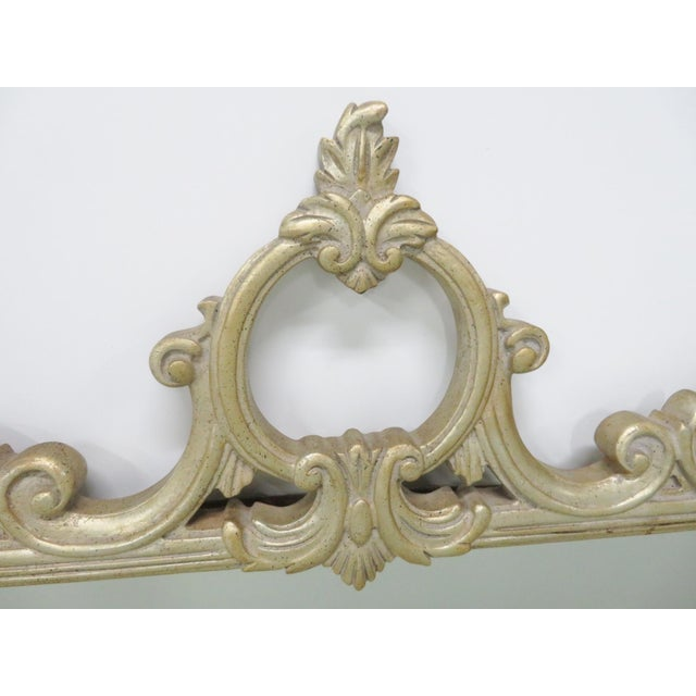 Silver Gilt Carved Mirror For Sale - Image 4 of 6