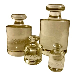 Vintage 1950s Glass Apothecary Weights - Set of 4 For Sale
