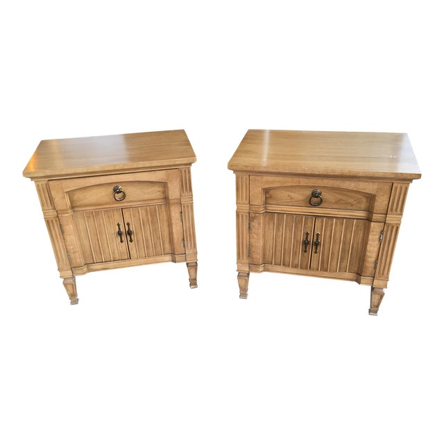 Thomasville Mid-Century Nightstands - A Pair - Image 1 of 3