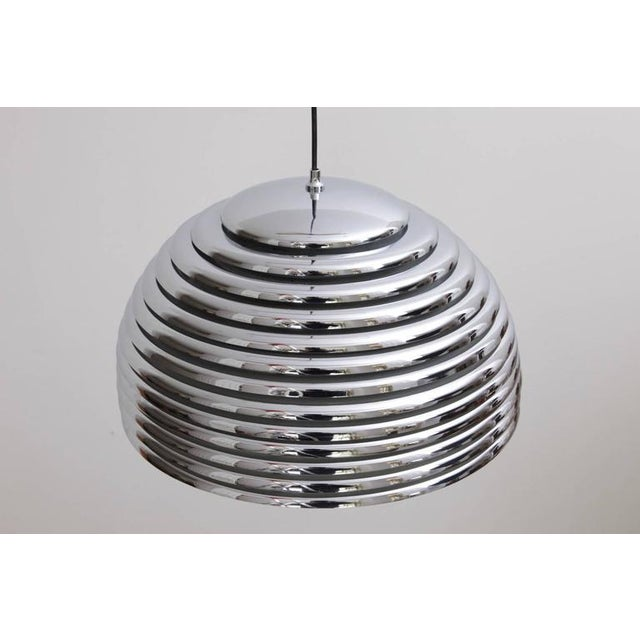 Mid-Century Modern Large Kazuo Motozawa Saturno Pendant Light For Sale - Image 3 of 5