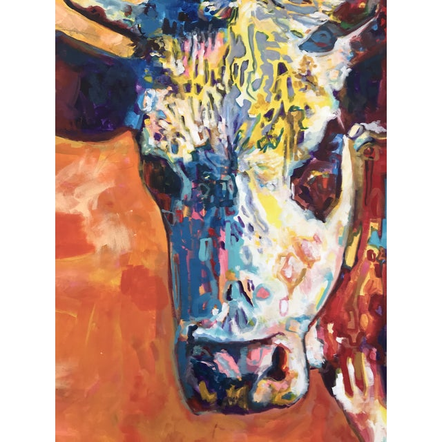 David Warmenhoven a Michigan born artist and Artprize winner. This offering is for one of Davids studies on Texas cows,...