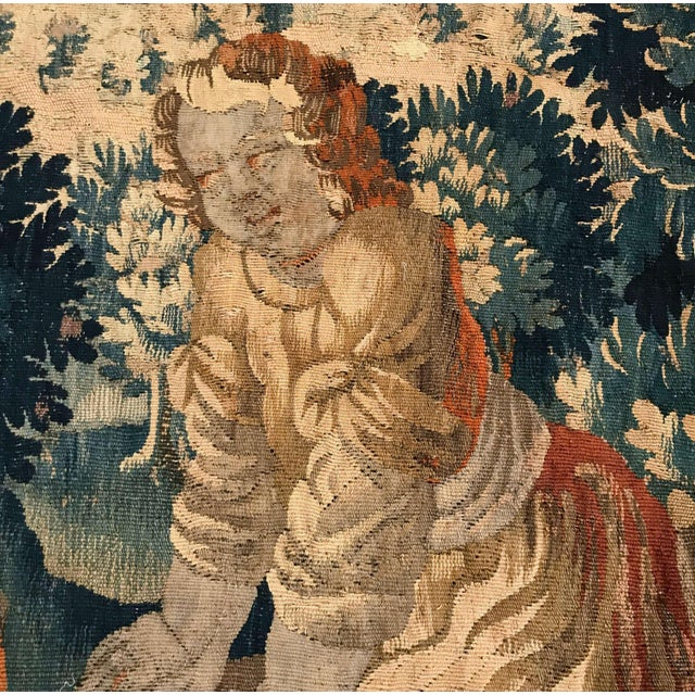 18th Century French Aubusson Tapestry With Cherubs at Play For Sale - Image 9 of 12
