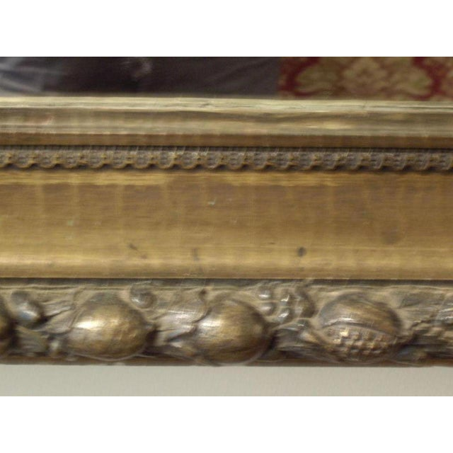 Mid 19th Century 19th C. Italian Worn Gilt Mirror For Sale - Image 5 of 6
