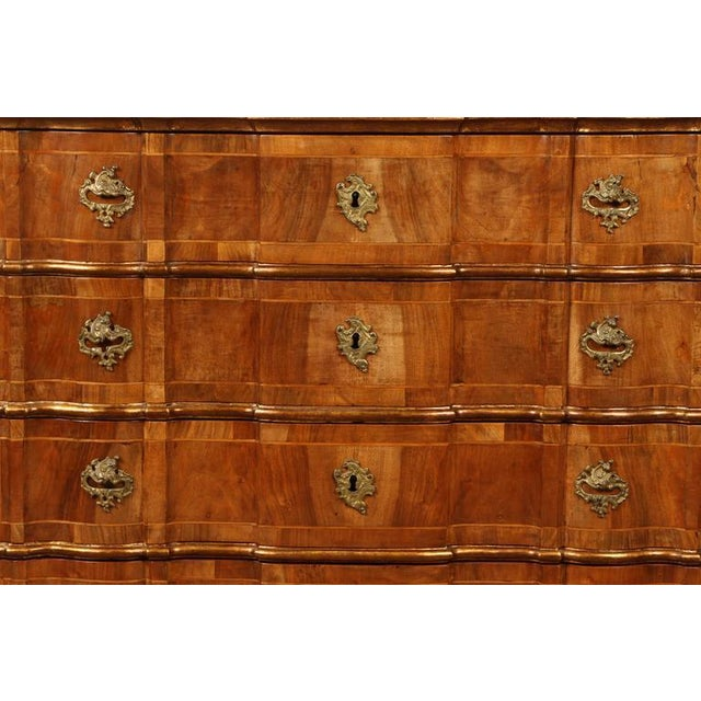 Danish Rococo chest of drawers with key For Sale - Image 4 of 10