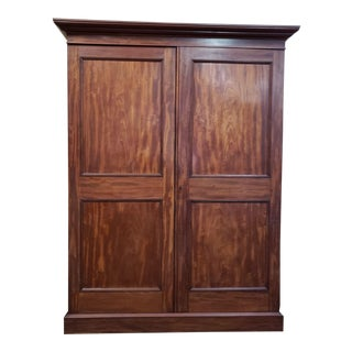 Antique Mahogany Linen Press C.1910 For Sale