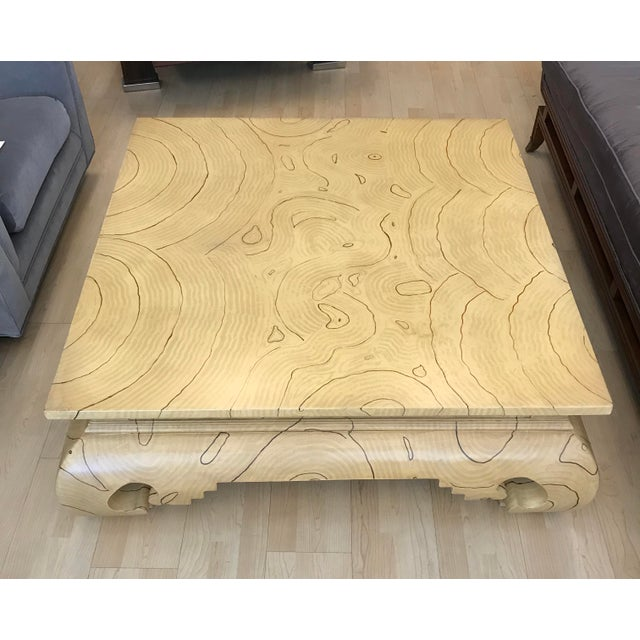Faux Wood Grain Painted Coffee Table For Sale - Image 4 of 13