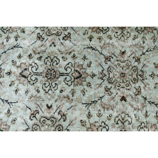 Turkish Over-Dyed Mint Wool Rug - 3′ x 2′ - Image 2 of 5
