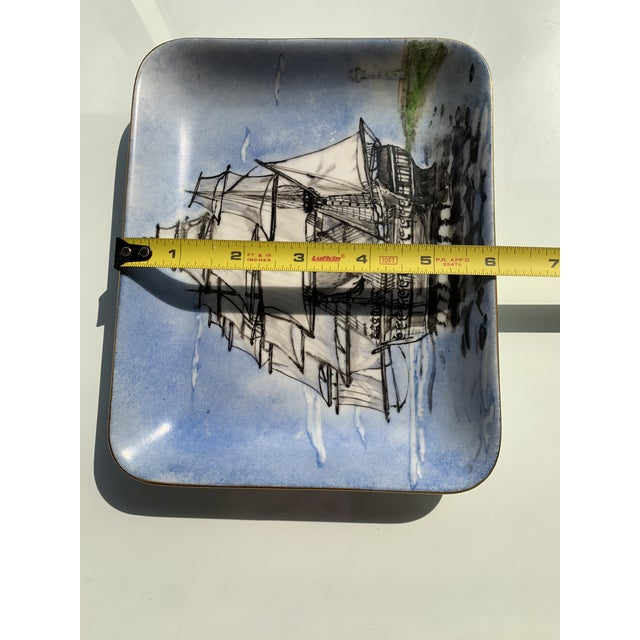 1970s Nautical Porcelain Tray For Sale - Image 9 of 12