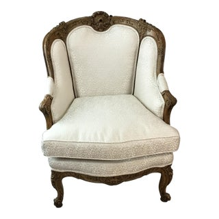 Mid 19th Century Antique French Bergere For Sale