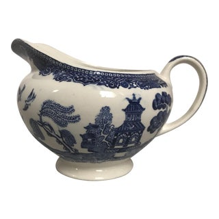 "Johnson Bros. ""Blue Willow"" Ceramic Creamer"