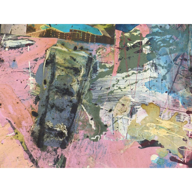 Abstract Mixed-Media Painting by William Phelps Montgomery 'Stitch in Time' For Sale - Image 4 of 10