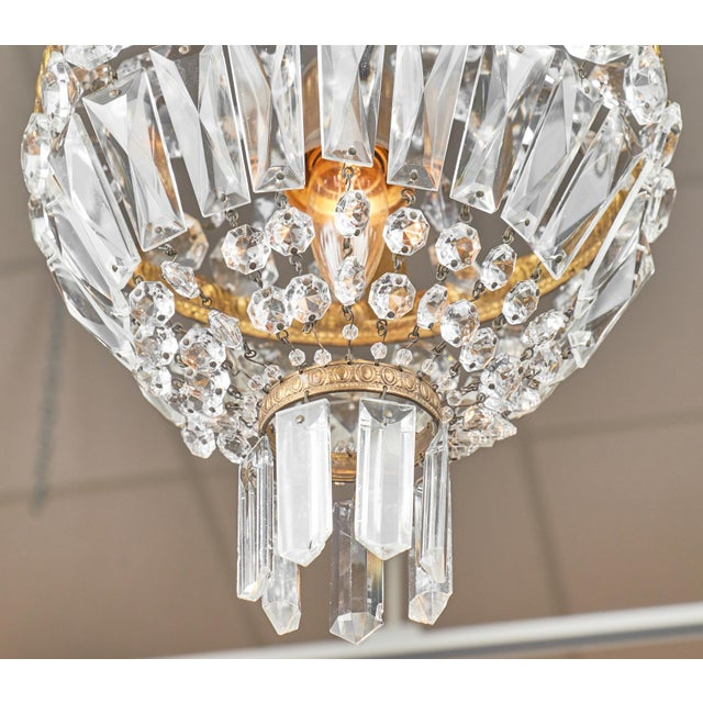Empire Empire Style French Antique Crystal Chandelier For Sale - Image 3 of 7