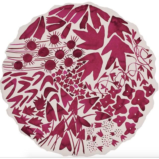 "Kate Roebuck ""Fuchsia Garden"" Watercolor Painting - Image 3 of 3"