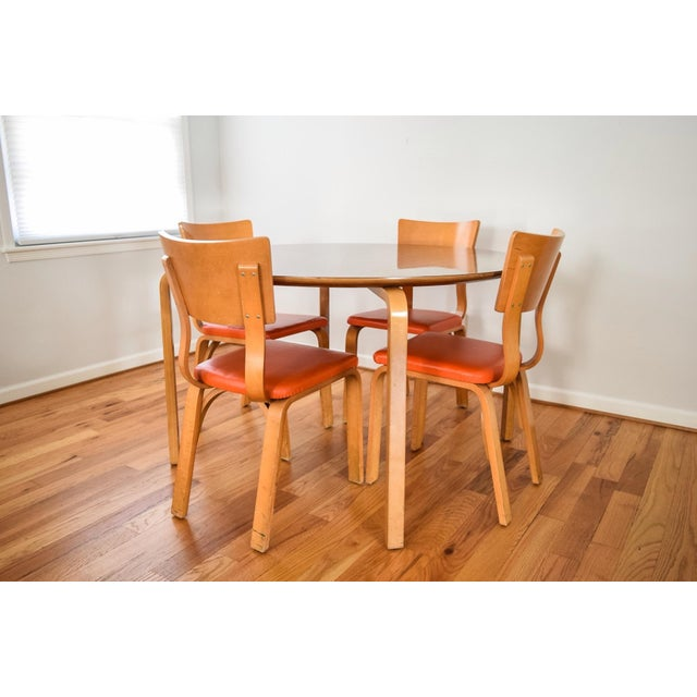 Mid-Century Thonet Bentwood Table & Chairs For Sale - Image 7 of 10