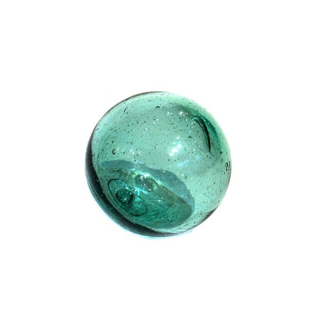"""Japanese 1950s Set of 50 Japanese Antique Glass Floats 