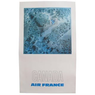 1971 Original Air France Travel Poster, Canada For Sale