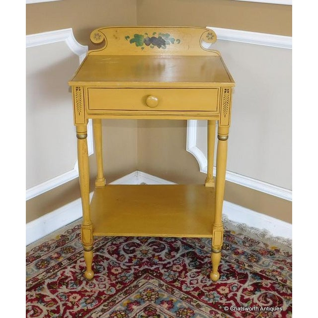 Sheraton 19 C. Painted Country Washstand Table For Sale - Image 5 of 9