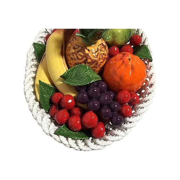 Vintage Italian Majolica Fruit Basket For Sale In Los Angeles - Image 6 of 8