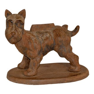 Late 19th C. English Terrier Boot Scrape For Sale