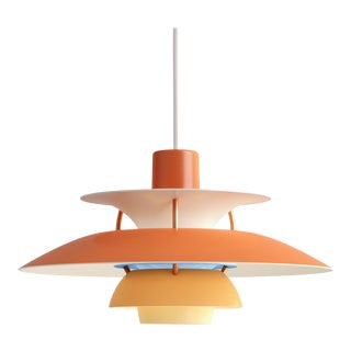 Poul Henningson Orange PH5 Mini Pendant for Louis Poulsen For Sale